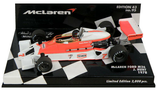 Minichamps McLaren Ford M26 1978-James Hunt scala 1/43