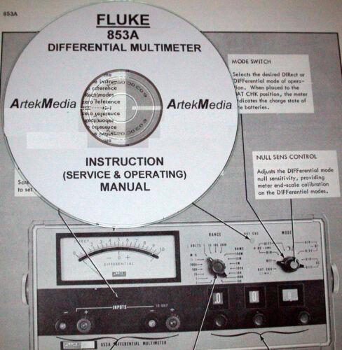 FLUKE 853A  Instruction Manual Operating /& Service
