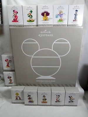 2014 Hallmark A Year of Disney Magic Complete Set of 12 with Display Stand