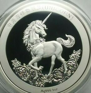 2019-China-1oz-Silver-Unicorn-25th-Anniversary-Restrike-Double-Mint-Sealed-NEW