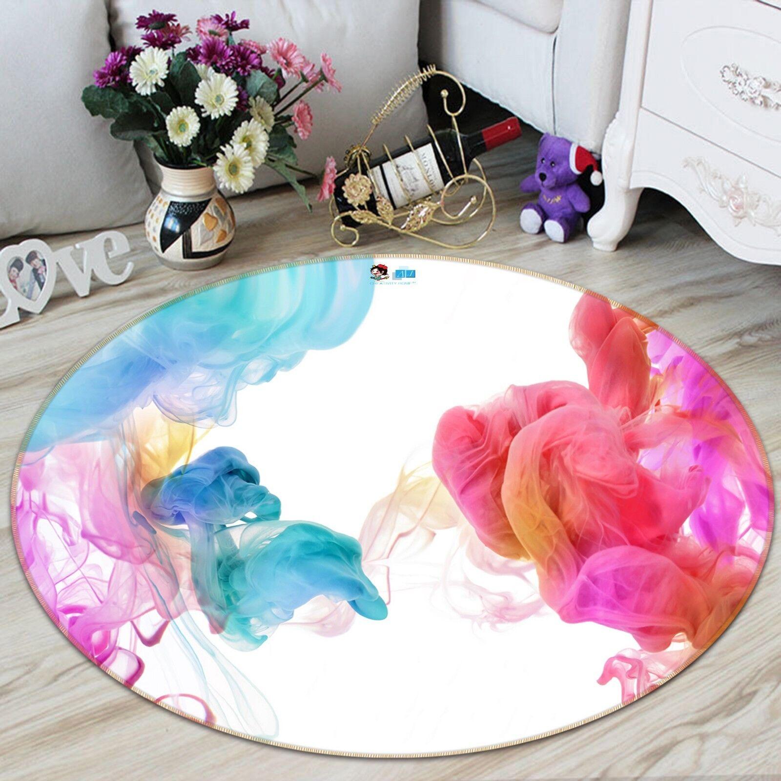 3D Color Humo 2 Alfombra colchoneta de Sala Mat Antideslizante rojoondo elegante Foto Alfombra