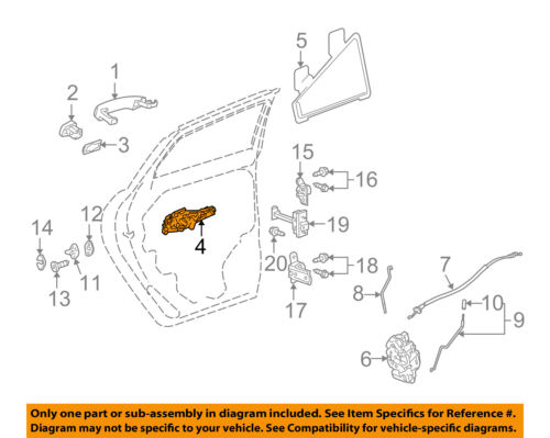 Rear Door-Handle Base Left 42527448 GM OEM Lock
