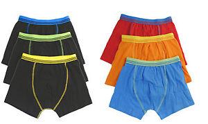6 Pairs Boys Cotton Rich Designer Boxer Shorts Trunks Underwear 2-13 years