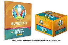 2020 Panini Euro Tournament Edition Hard Cover Album + 50 Pack Box (250 Sticker)