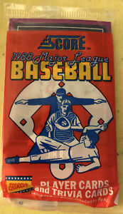 1988 Score Baseball Pack Jim Rice Red Sox (Top) Lee Tunnell Cardinals (Back)