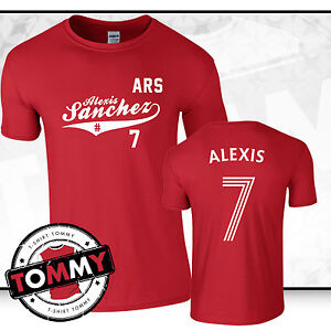 4fad125207f Image is loading Alexis-Sanchez-Arsenal-FC-T-Shirt-Sanchez-tshirt-