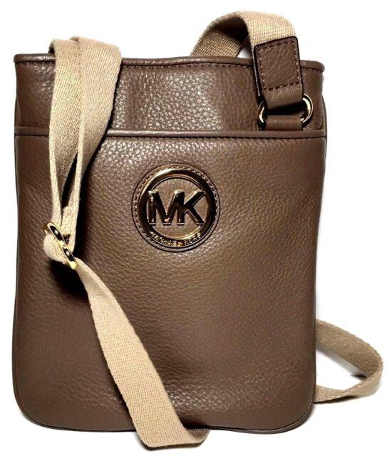 11cd250d7a8f Michael Kors Mk Fulton Leather Crossbody Bag Messenger in Dark Dune