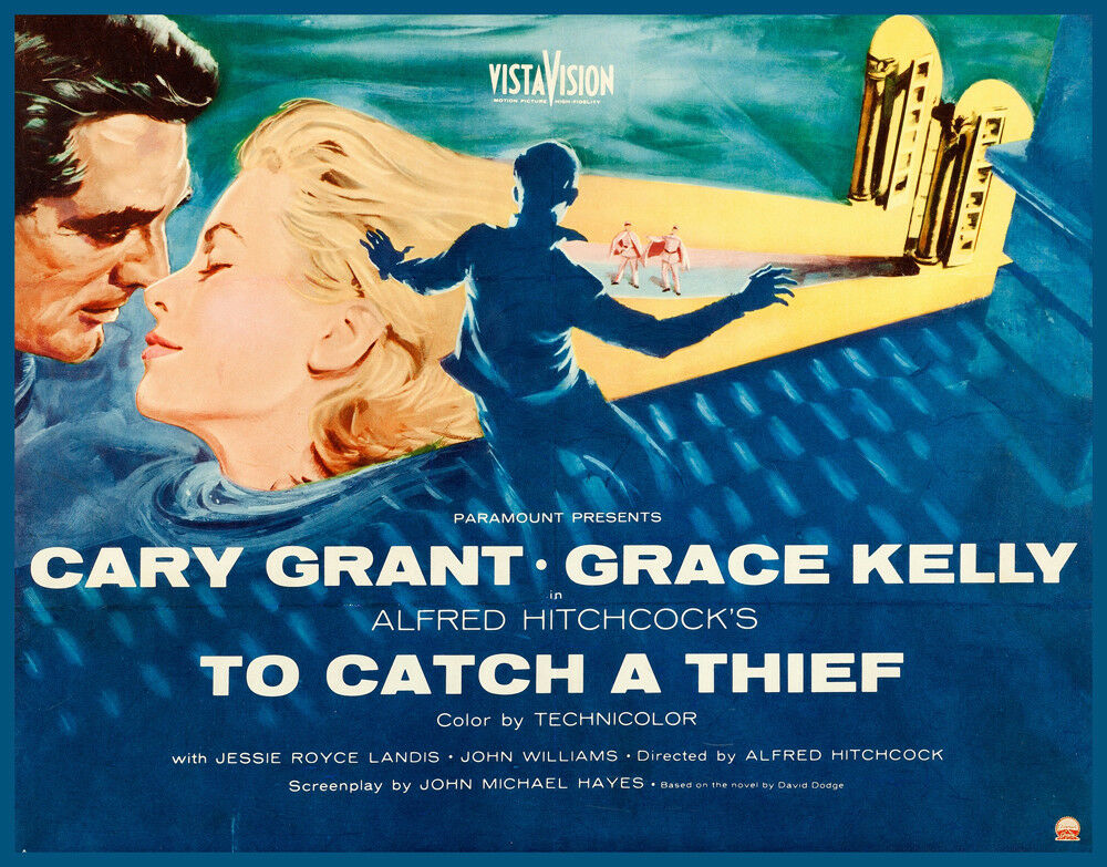 Decorative POSTER.Home Room interior wall art design.To Catch a Thief movie.7861