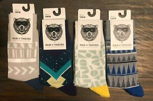 4-Pack-New-Pair-of-Thieves-Men-Crew-Socks-Pattern-Multi-colored-Size-8-12