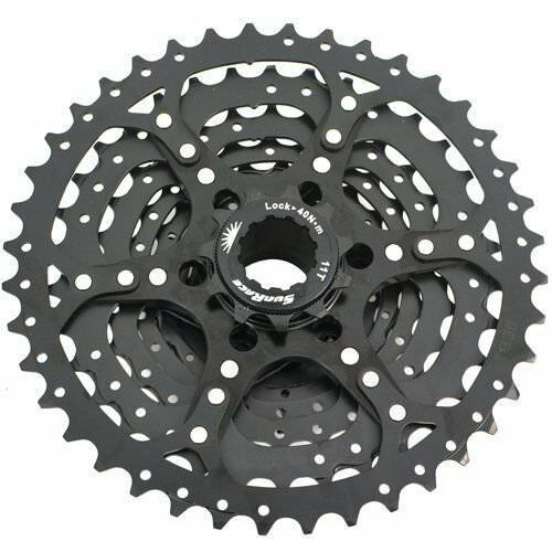 9 Speed Black Fast Shipping SunRace CSM990 Wide Ratio Cassette 11-40T