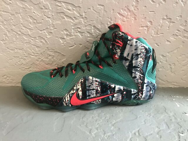 ec36f1e7466 Nike Lebron XII Xmas Christmas Green Akron Birch - 707558363 - Men's Size 14