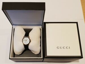 38ff2f734 Image is loading Gucci-Ladies-G-Timeless-Gold-Plated-Diamantissima-Dial-