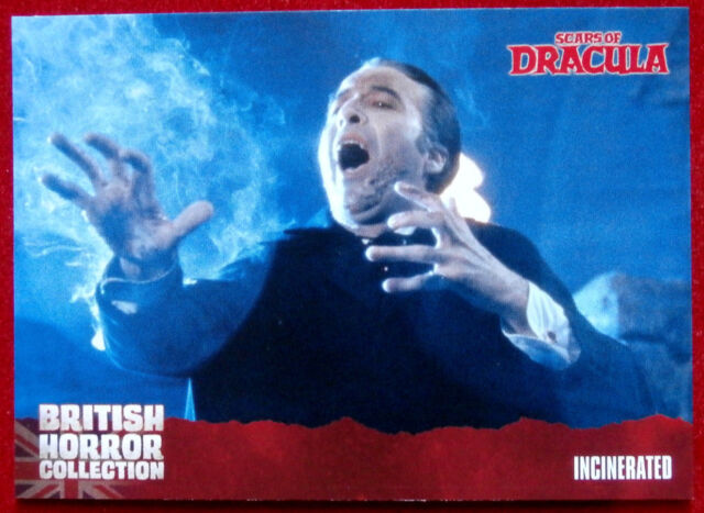 BRITISH HORROR - Card #18 - Scars of Dracula - INCINERATED