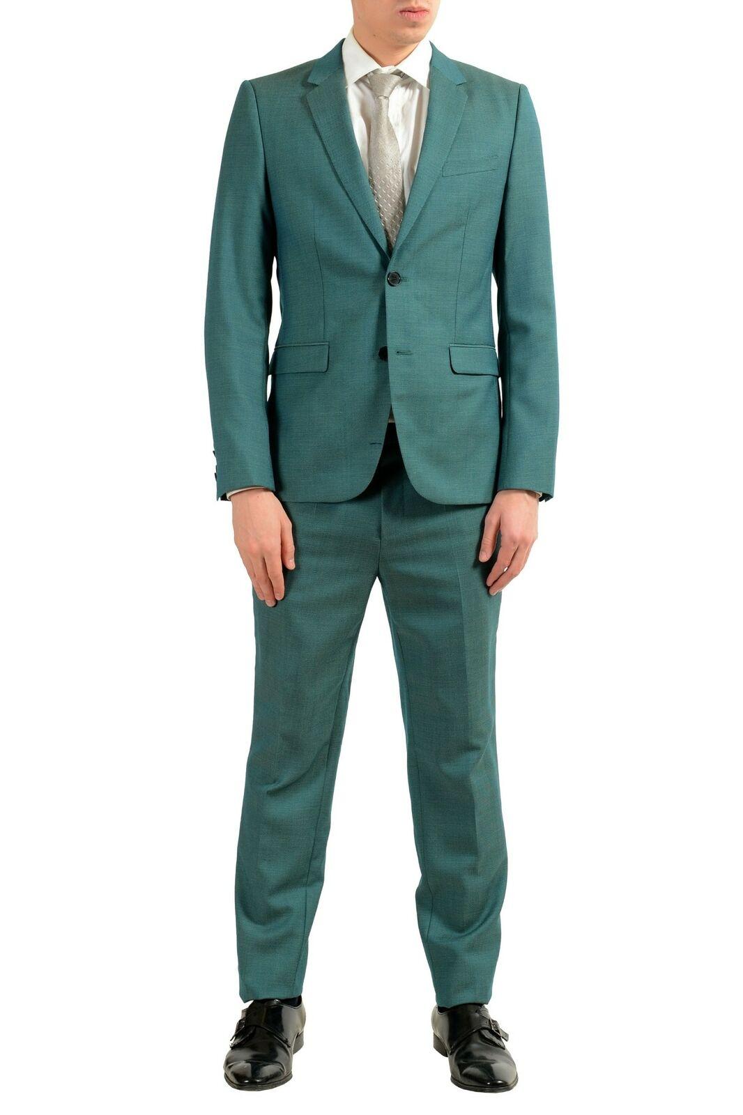 Hugo Boss Zoll Astian   Hets Zoll Herren 100%Wolle Grün Zwei Knopfen Anzug  | Ruf zuerst  | Schnelle Lieferung  | Ausgezeichnetes Preis