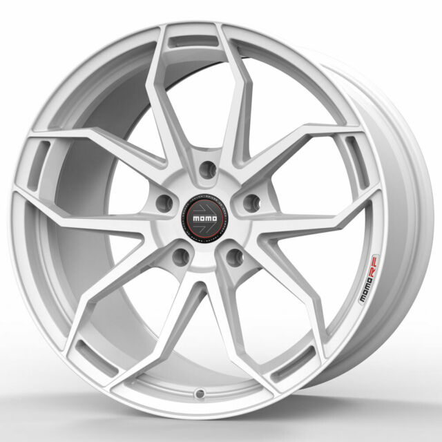 "20"" MOMO RF-5C White 20x9 Forged Concave Wheels Rims Fits"
