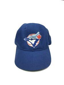 Adult-7-1-8-New-Era-MLB-Toronto-Blue-Jays-Logo-Fitted-Baseball-Cap-Hat-VTG-90s