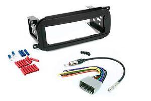 Radio-Mounting-Stereo-Install-Trim-Single-Din-Dash-Kit-Wire-Harness-Antenna