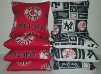 Set Of 8 Yankees/red Sox Cornhole Bags Free Shipping