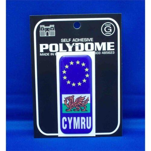 Suction Cup Diamond Sign Pink Bump Board Cymru Euro Plate Polydome Sticker