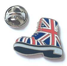 British Doc Martin Boot in Union Jack Enamel Lapel Pin Badge (T1244)