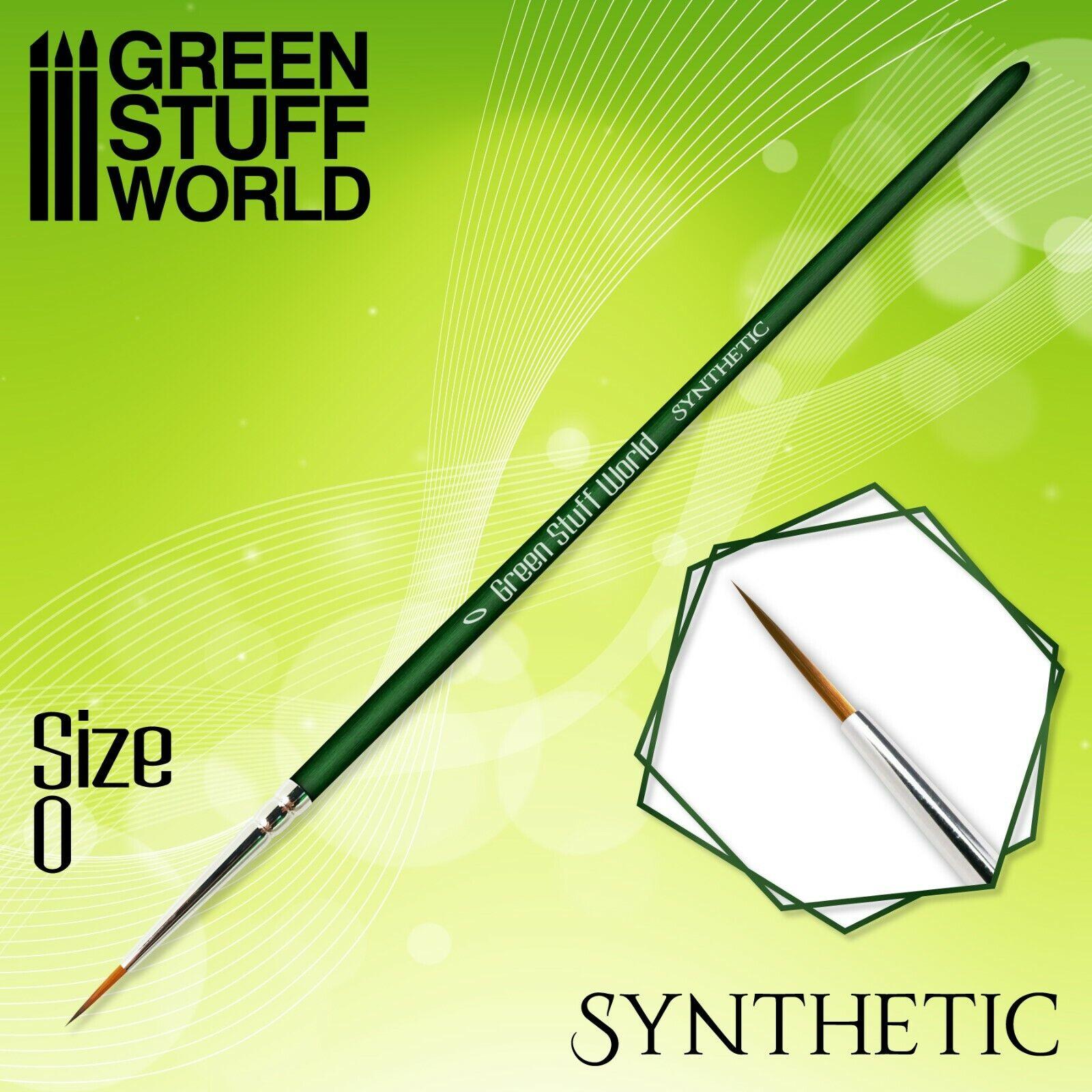 GREEN SERIES Pincel Sintetico - 0 - Ergonomicos - Acrilico y Oleo...