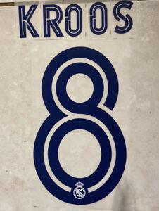 Flocage Nameset Kross #8 Real Madrid 2020-2021 Domicile Extérieur.
