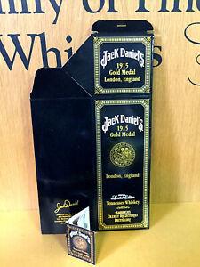 JACK-DANIELS-1915-GOLD-MEDAL-LONDON-ENGLAND-UNFOLDED-750ML-BOX-amp-UNUSED-HANGTAG