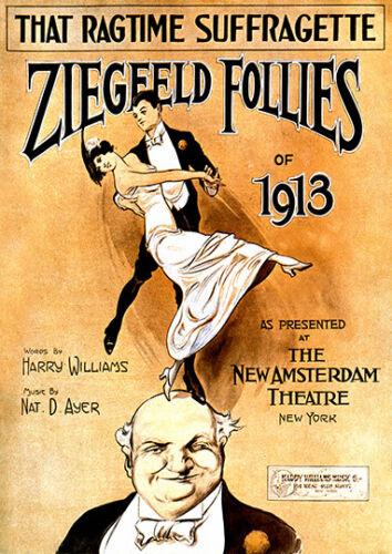 Poster Reproduction Ziegfeld Follies Vintage Theatre Advertising