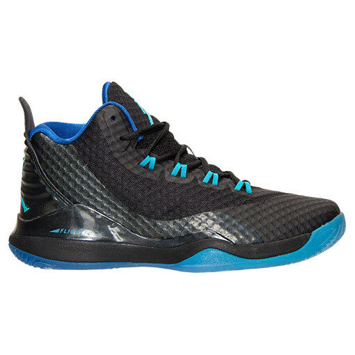 newest 7b087 ffd7c ... coupon code for mens nike jordan super.fly 3 po bleu chaussures taille  9.5 noir