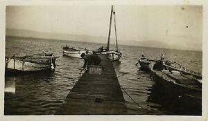PHOTO-ANCIENNE-VINTAGE-SNAPSHOT-PECHE-PECHEUR-BATEAU-VOILIER-FISHING-BOAT
