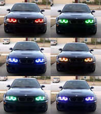 Item 2 Xenon Rgb Multi Color Led Angel Eyes Headlight For Bmw E38 E39 E46 3 5 7 Series