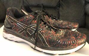 sale retailer 1bb96 b64b6 Details about ASICS Gel Kayano 23 T6A0N Men's Running Shoe Size 13 Black &  Red Athletic