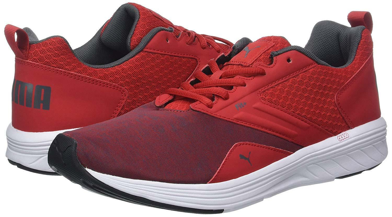 PUMA new Mens NRGY Comet Ribbon Red Iron Gate shoes 190556 sz 12