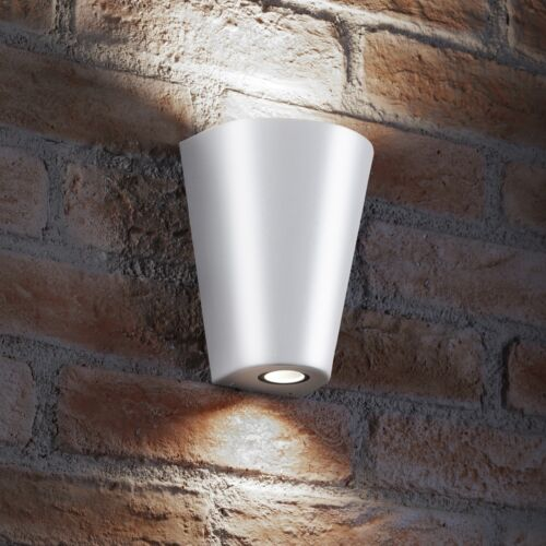 Auraglow 14w Outdoor Double Up /& Down Luce a muro-lampadine a LED incluso-Bianco