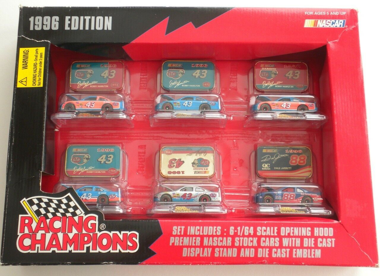Racing Champions 1996 Edition NASCAR Six 1 64 Scale Die Cast Stand & Emblem