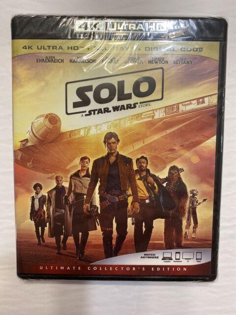 SOLO A STAR WARS STORY 4K ULTRA HD & BLURAY & DIGITAL SET with Alden Ehrenreich