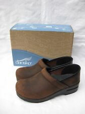 """Women's Dansko Professional """"Antique brown"""" Oiled Leather Clogs 38 (US 8)"""