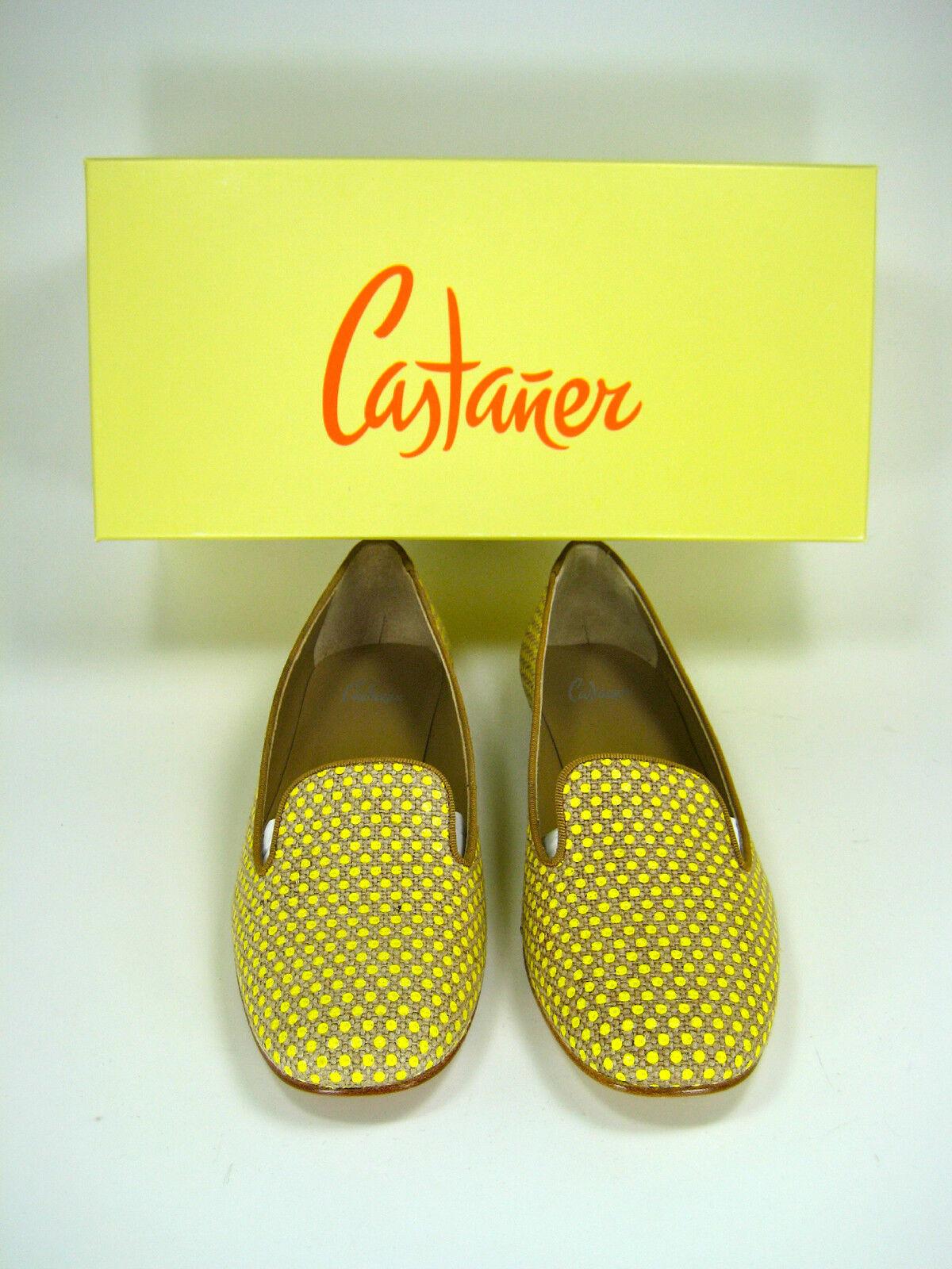 Castaner amarillo y tan Amarillo  quejarse    Mocasín Planas tamaño 36 Nuevo En Caja  285  últimos estilos