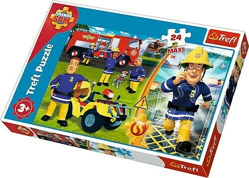 Feuerwehrmann Sam Maxipuzzle 24 Große Teile  Kinderpuzzle 60x40cm Kinder Disney