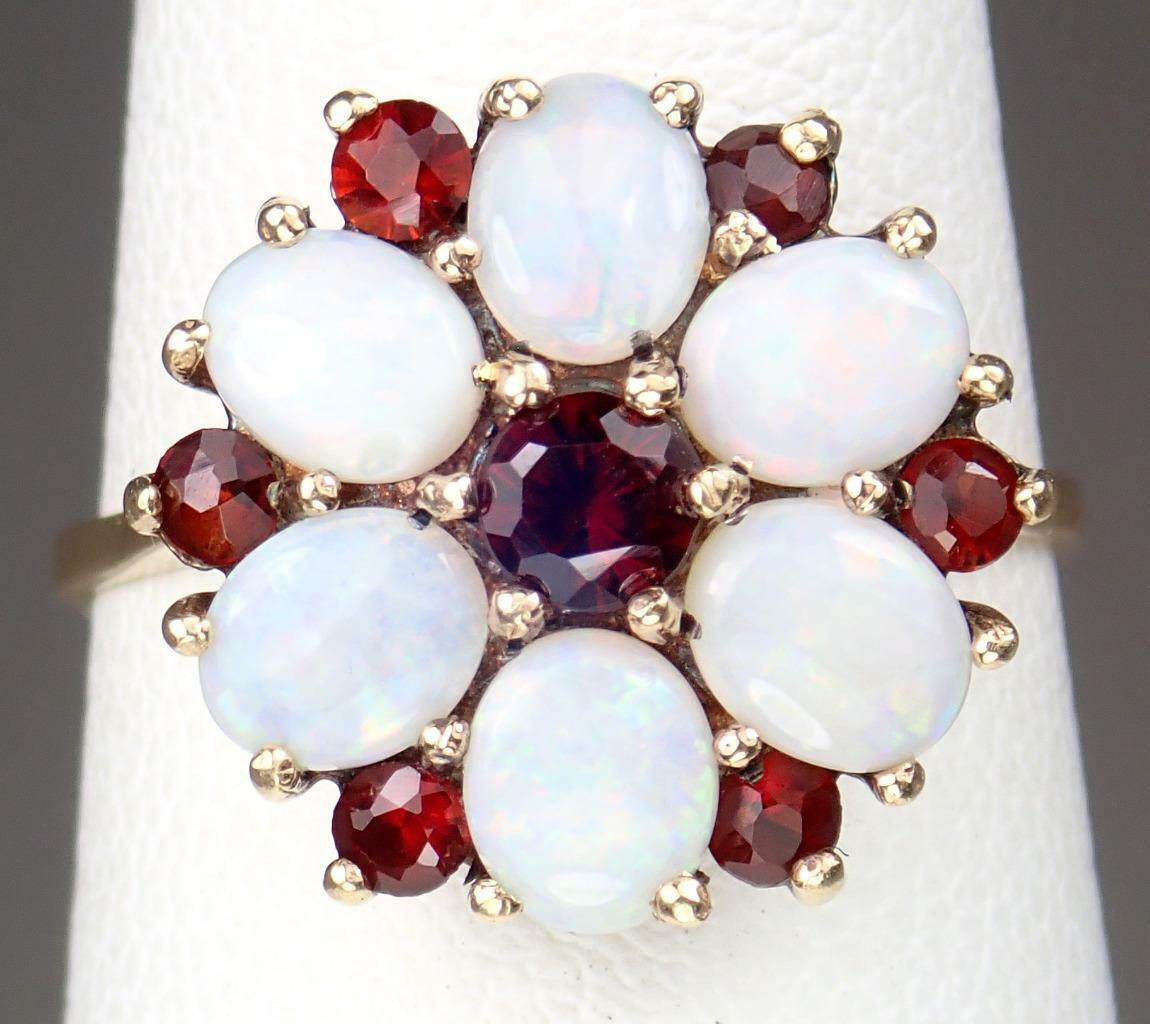 Beautiful Vintage Estate 9K Gold 1.1ct Opal Garne… - image 12