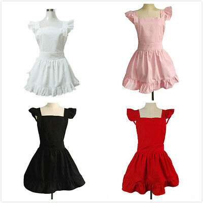 White Cooking Aprons For Young Girls French Maid Kitchen Halloween Party Favor