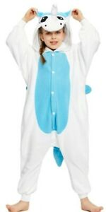 NEWCOSPLAY Halloween Unisex Childrens Unicorn Pajamas - Plush One Piece Sz 5