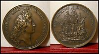 "1670 LOUIS XIV HISTORICAL MEDAL "" NAVY RESTORED """