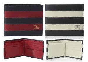 New-Tommy-Hilfiger-Worchester-Men-039-s-Leather-Passcase-Billfold-Wallet-31TL22X040