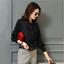 Womens-Satin-Silk-Button-Down-Blouse-Top-Bow-Tie-Neck-Shirt-Long-Sleeve-Zhou8 thumbnail 1