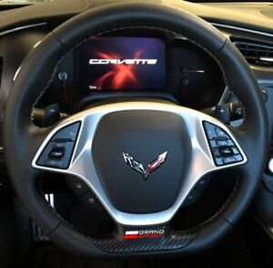 Details about C7 Corvette Grand Sport 2017+ Steering Wheel Vinyl Decal -  Color Selection