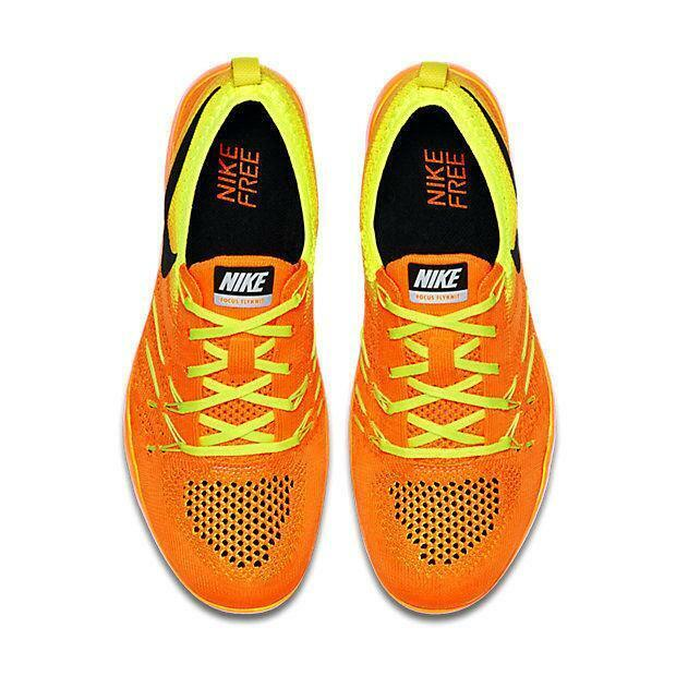 san francisco d5c96 c91a5 ... Womens NIKE FREE FREE FREE TR FOCUS FLYKNIT Total orange Trainers  844817 800 3e697f