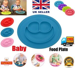 Cute-Bowl-Silicone-Mat-Baby-Kids-Child-Suction-Table-Food-Tray-Placemat-Plate-UK