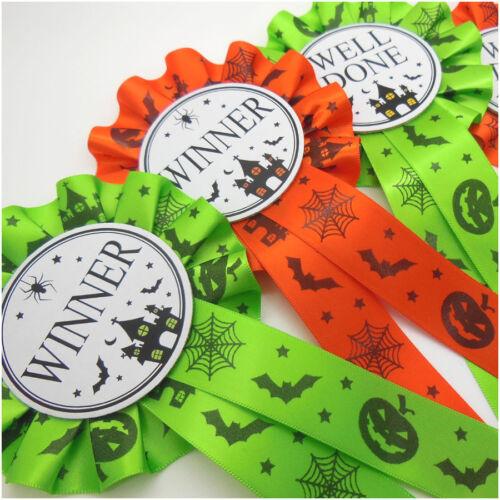 Well Done Rosettes Slime Green Pumpkin Orange 10 x Halloween Winner Rosettes