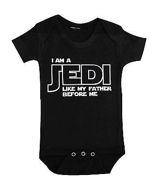 Star Wars Onesie Bodysuit Toddler Tshirt I Am A Jedi Like My Father